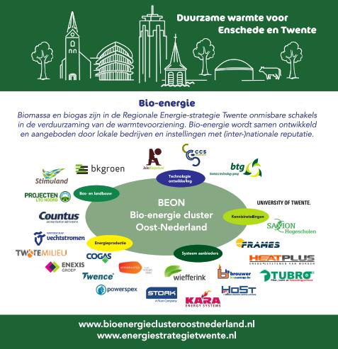 Bijdrage biomassa en biogas aan verduurzaming warmtevoorziening Twente